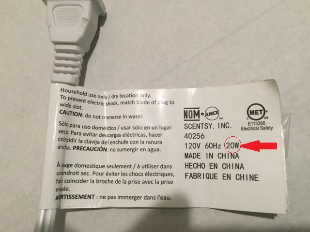 scentsy light bulb label