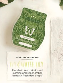ivy and waterlily scentsy scent april 2017
