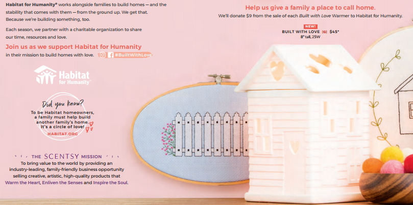 Scentsy Built with Love Habitat for Humanity Warmer 2017 2018