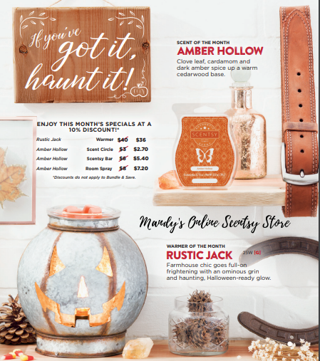 Rustic Jack Scentsy Warmer Sept 2018