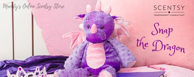 Snap the Dragon Purple Scentsy Buddy