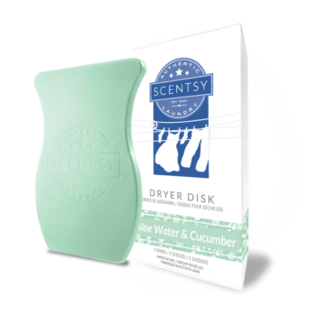 scentsy dryer disks aloe water cucumber