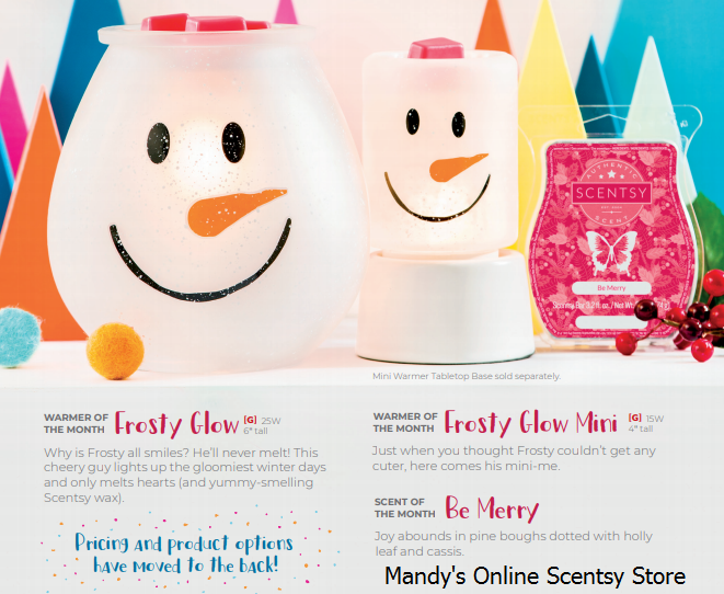 frosty glow scentsy warmer nov 2018