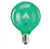 green scentsy light bulb