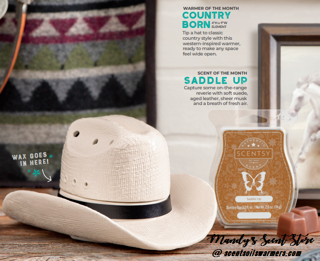 SCENTSY COWBOY HAT WARMER MAY 2019